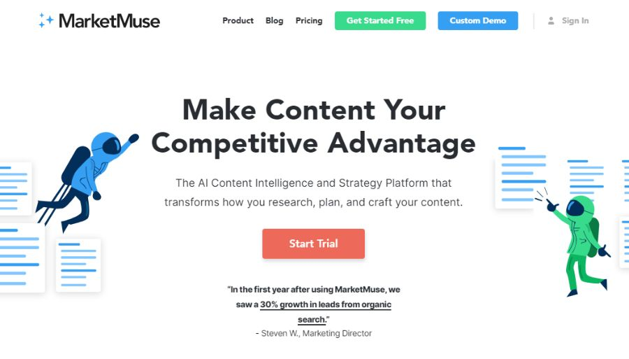 MarketMuse - The Best Article Writing Software