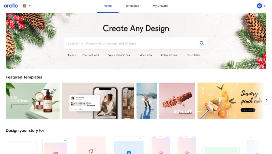 Crello Design Options